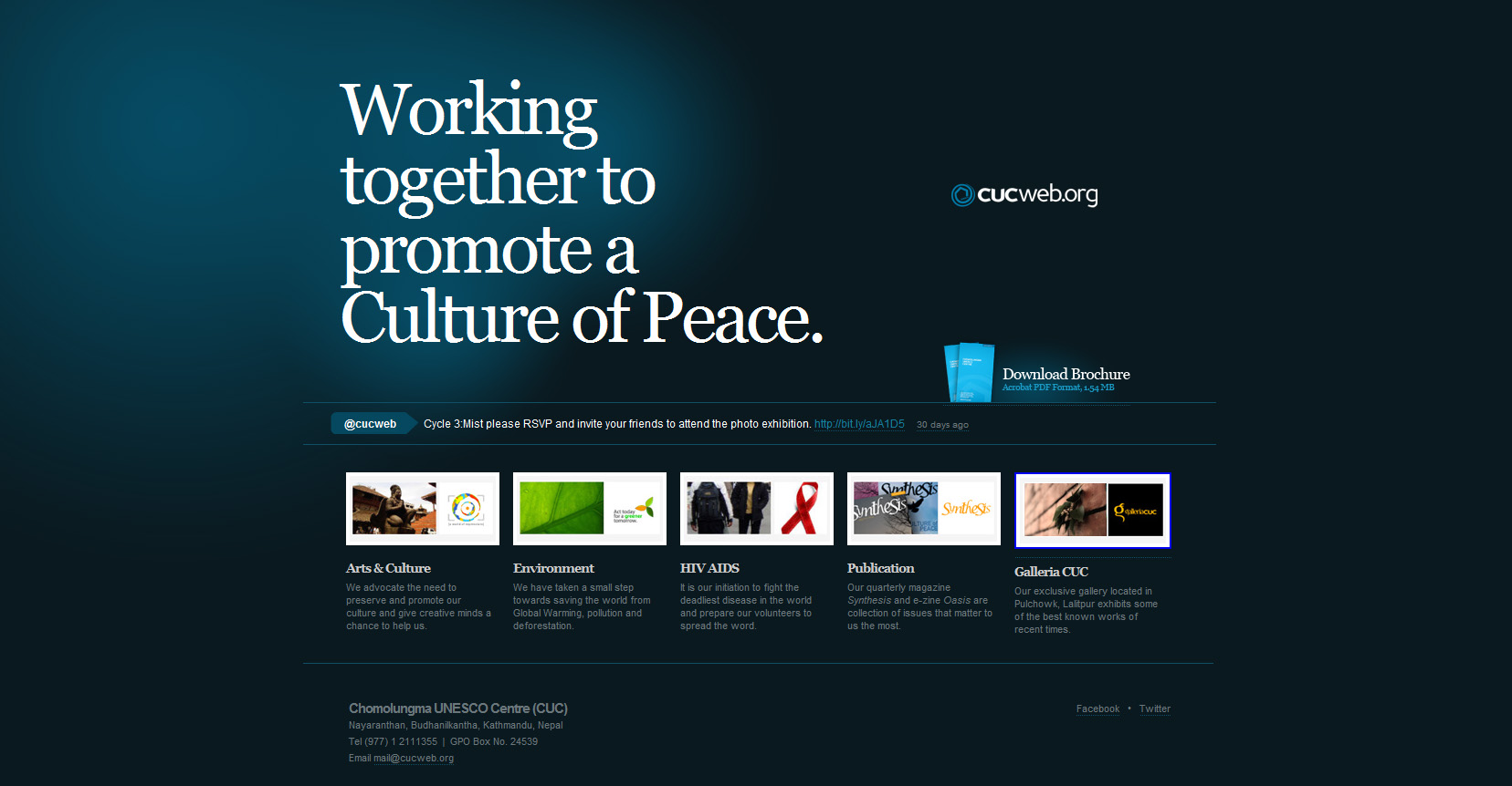 Homepage of cucweb.org