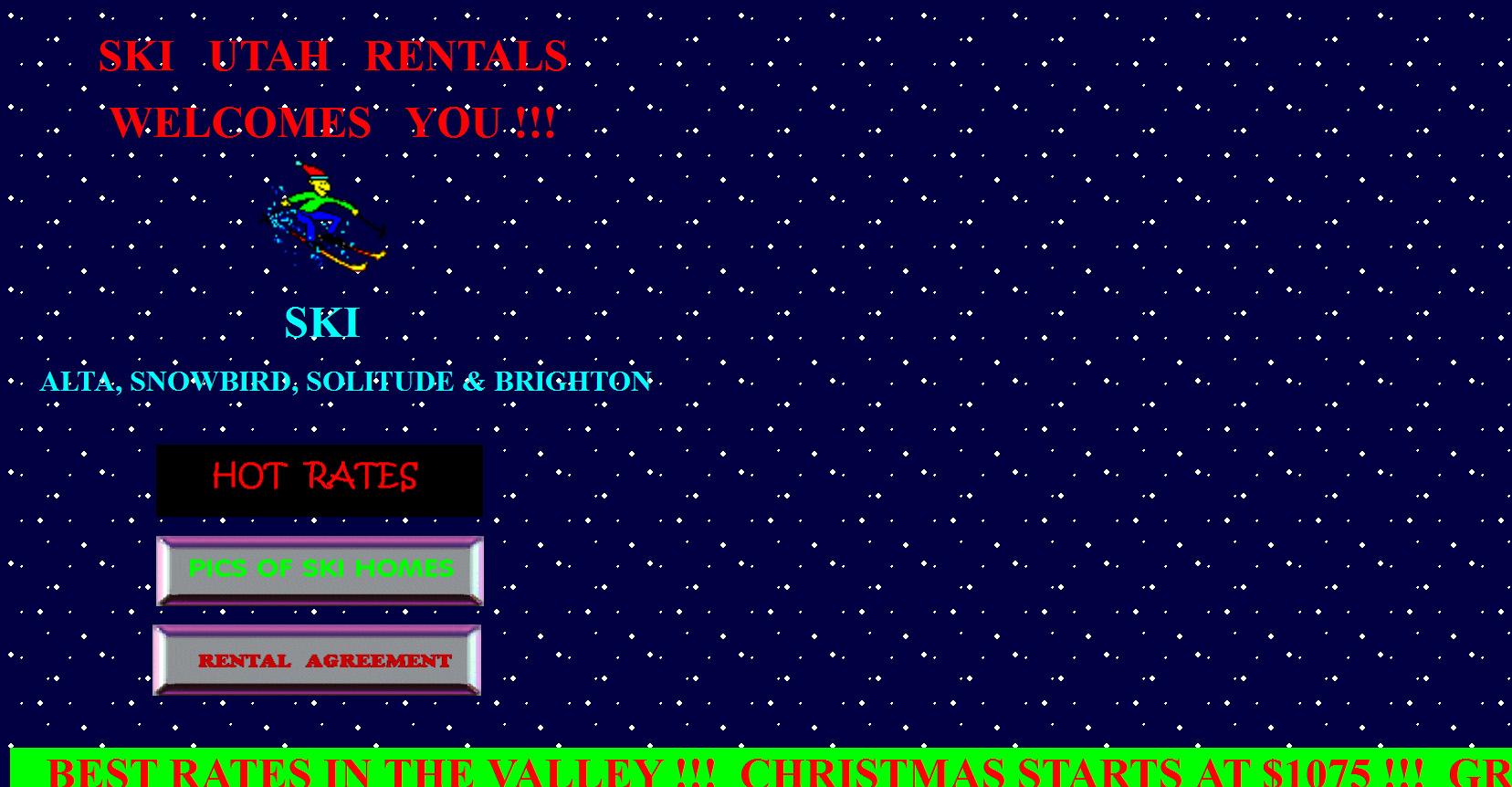 Homepage of http://www.ski-utah-rentals.com/